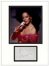 Diana Ross Autograph Signed Display - The Supremes